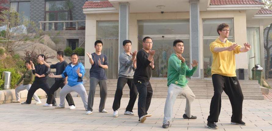 Formtraining auf Da Qing Shan, China