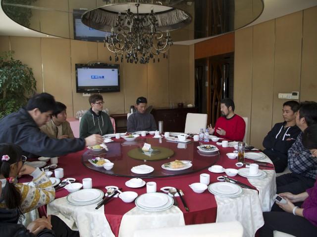 Mittagessen in Wuxi mit Master Chen und den Workshop Teilnehmern